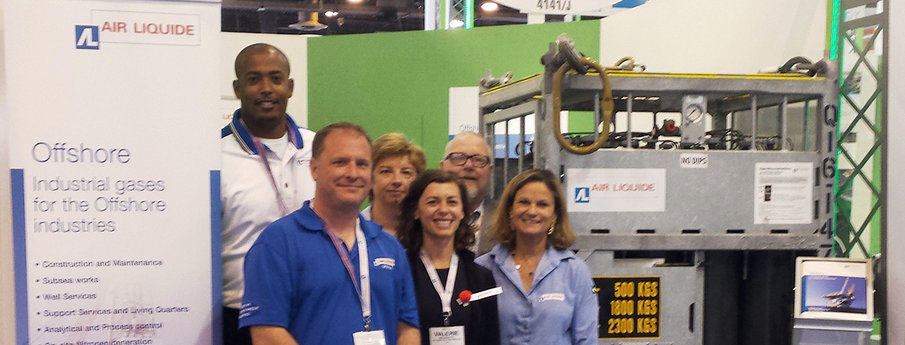 Air Liquide exhibits at OTC (Offshore Technology Conference) 2016.