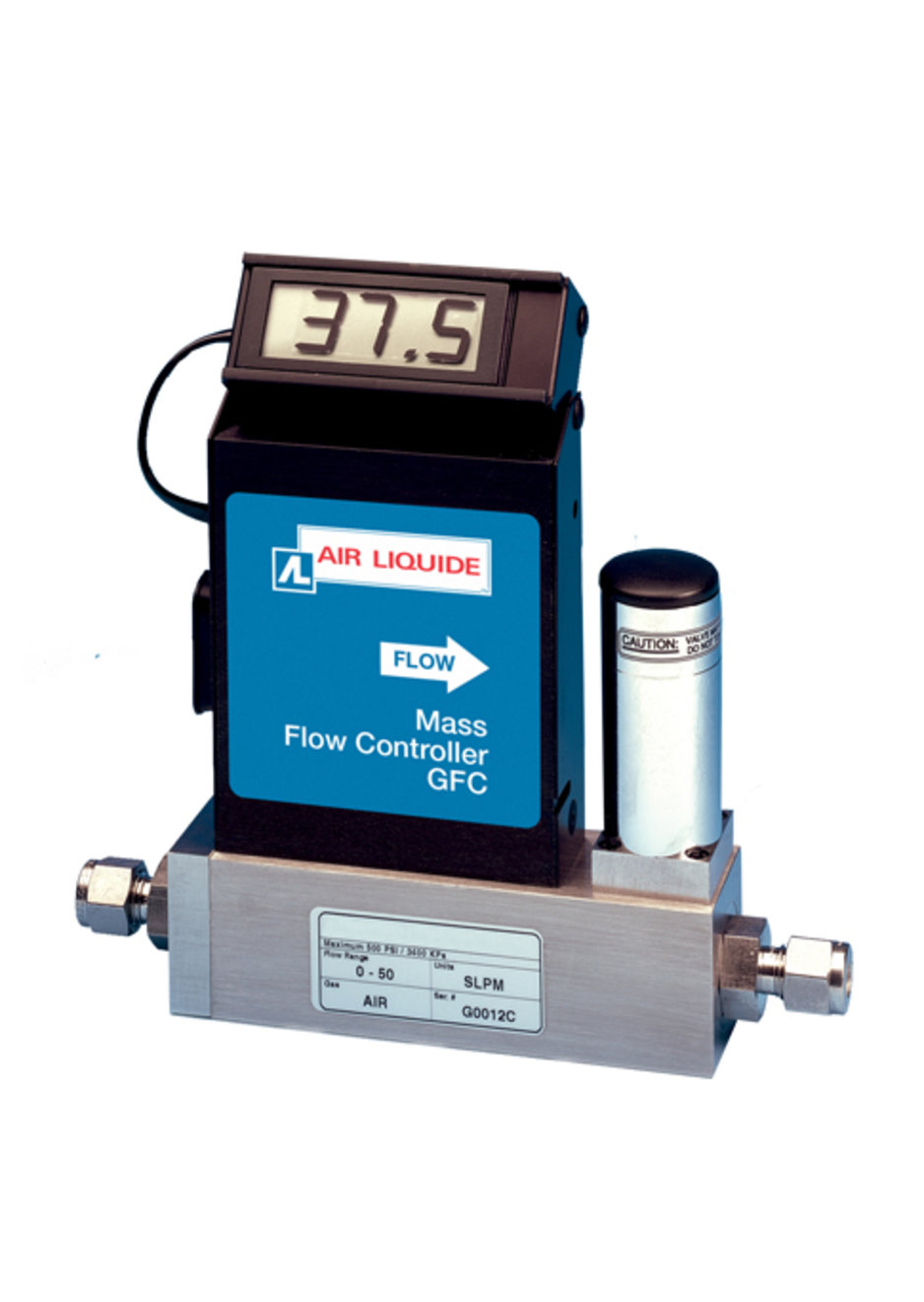Model GFC Thermal Mass Flow Controllers are compact, self-contained flow controllers designed to indicate and control flow rates of gases.
