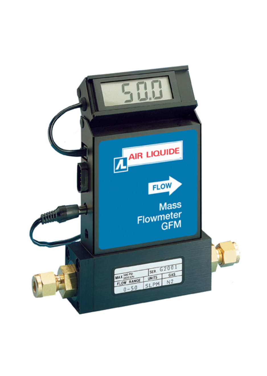 Model GFM Thermal Mass Flow Meters are compact, self-contained flowmeters designed to read flow rates of gases.